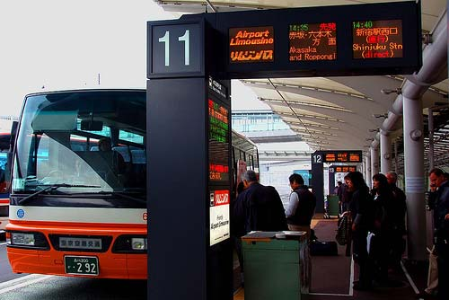 Limousine Bus stop at Narita International Airport