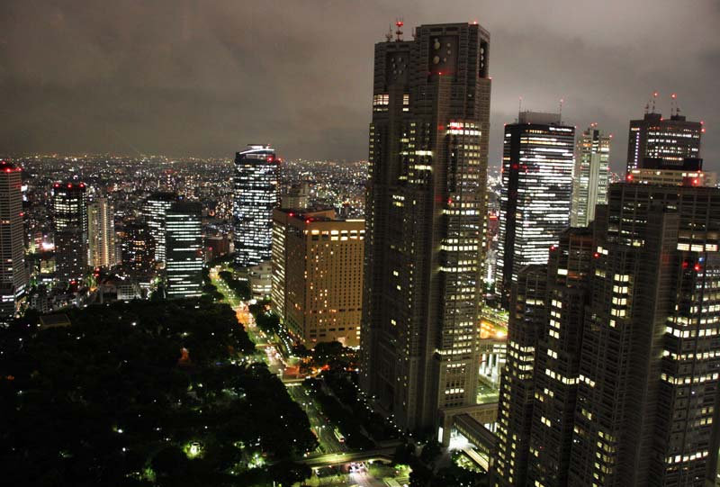 Tokyo by night viewed from Park Hyatt